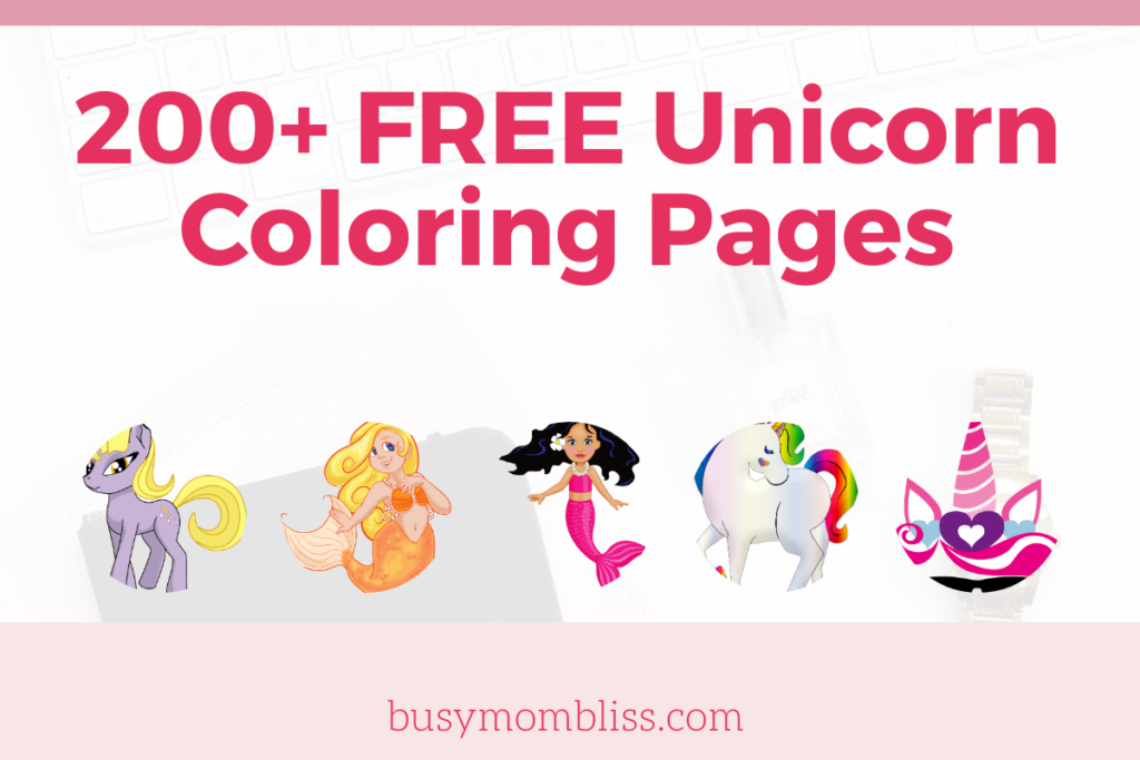 200+ FREE Unicorn Coloring Pages